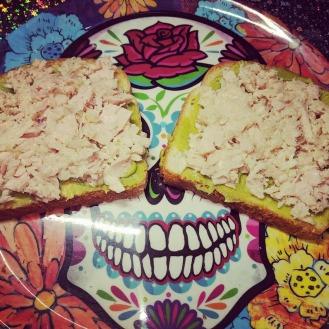 Avocado toast with tuna